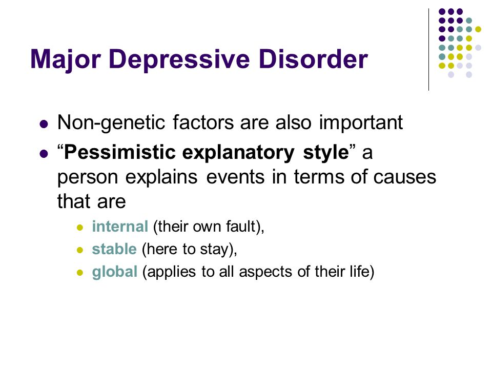 Major Depressive Disorder