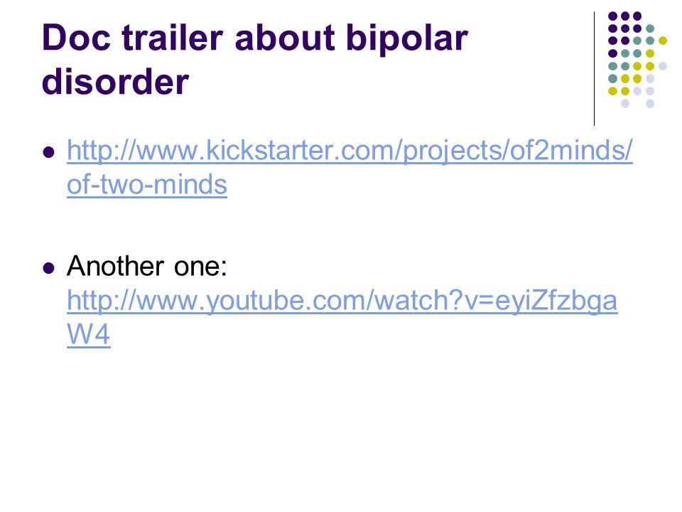 Doc trailer about bipolar disorder