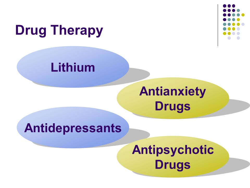 Drug Therapy Lithium Antianxiety Drugs Antidepressants