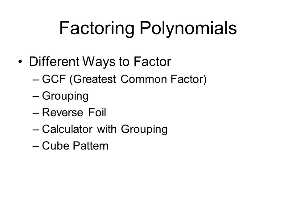Factoring polynomials worksheet with gcf