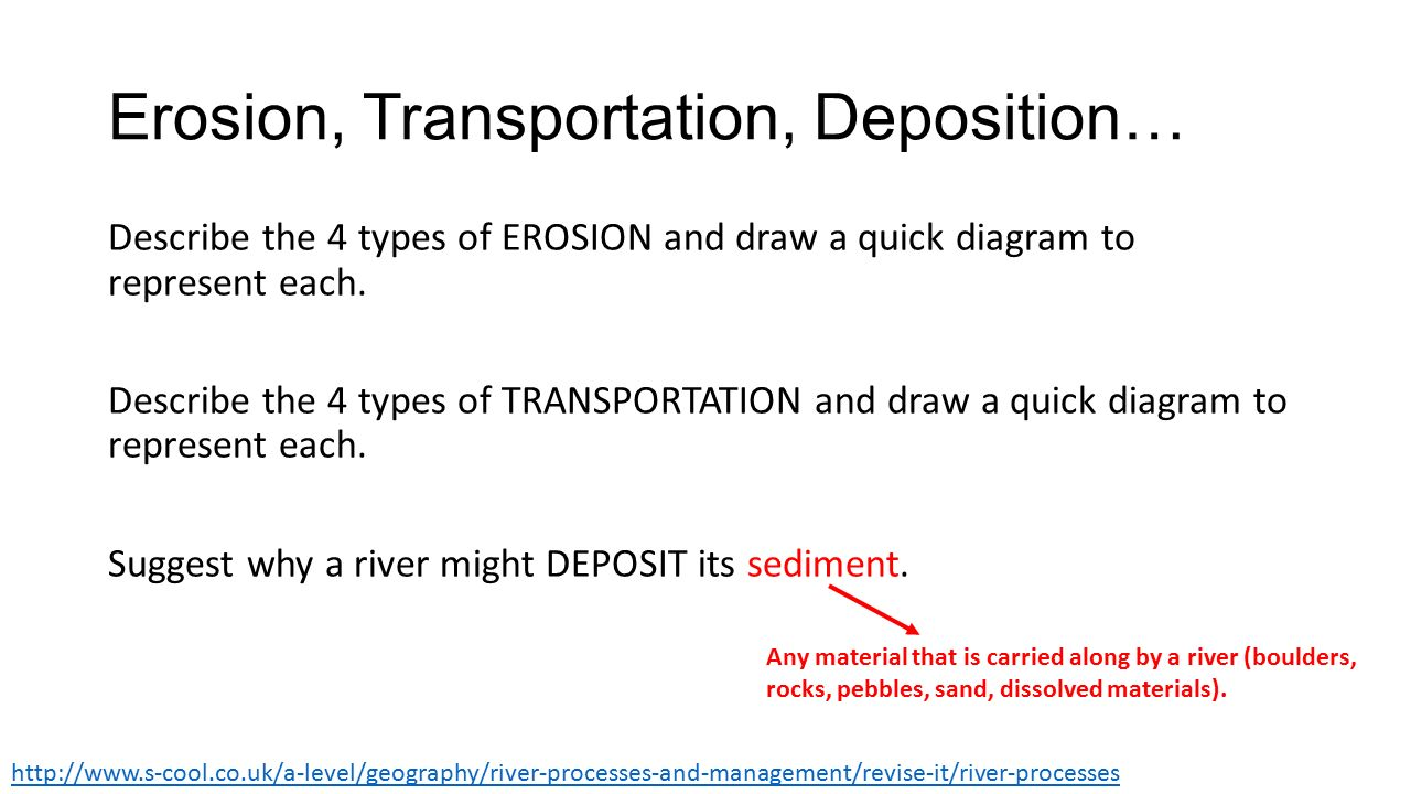 Lo to describe and explain the processes that occur along the 3 erosion transportation ccuart Images