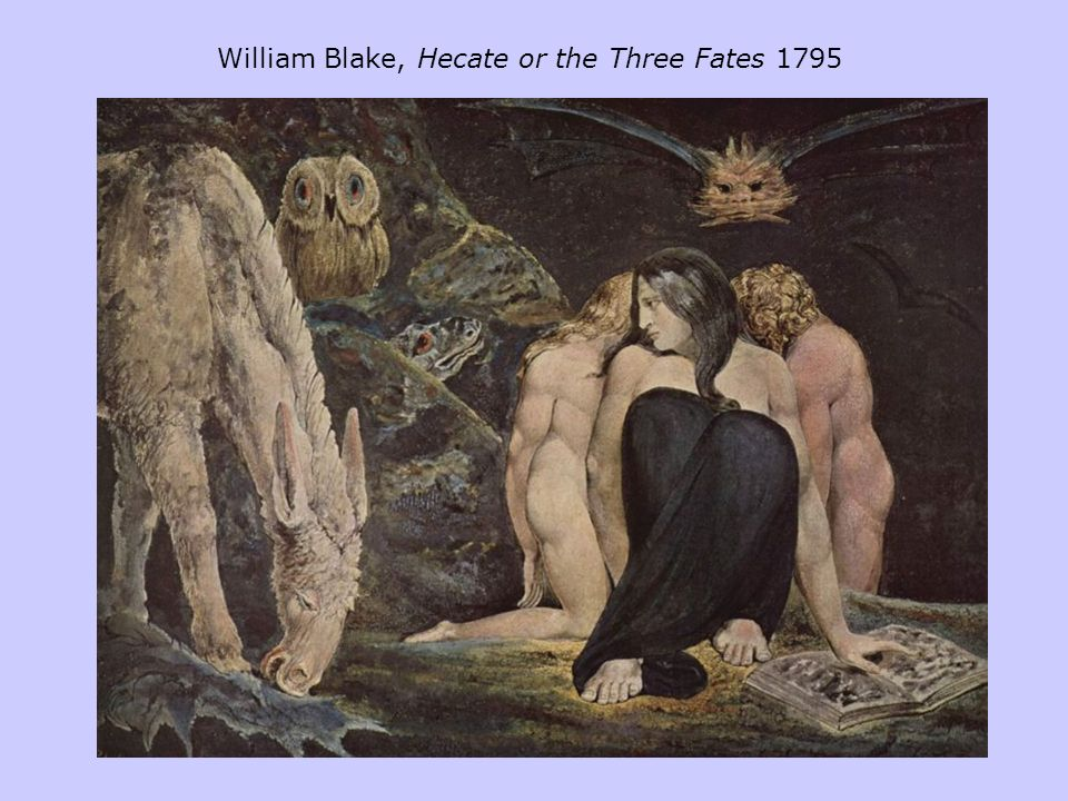 William Blake, Hecate or the Three Fates 1795