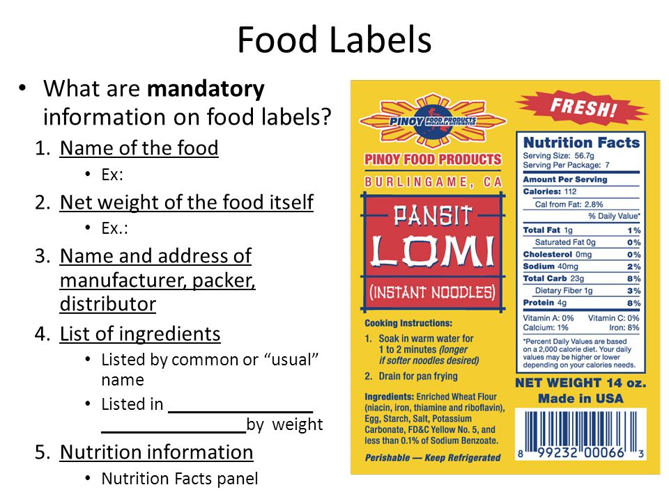 Food Health Claims Canada