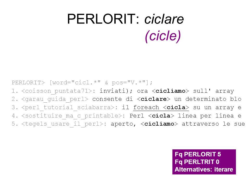 PERLORIT: ciclare (cicle)