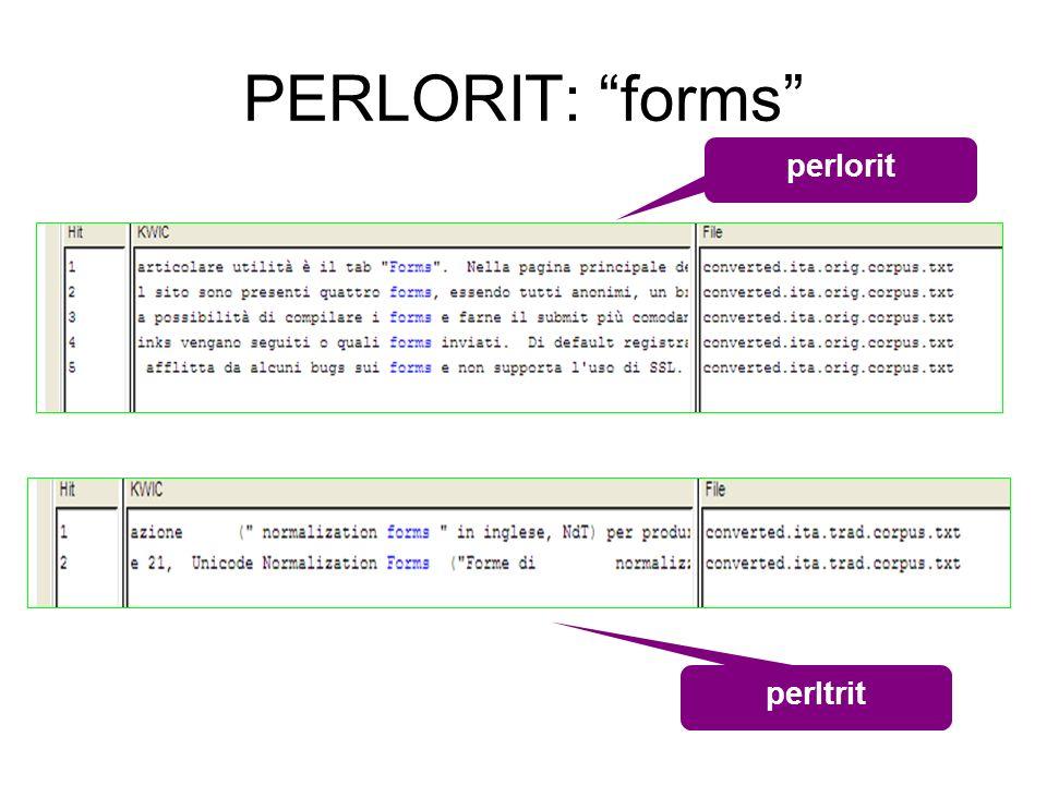 PERLORIT: forms perlorit perltrit