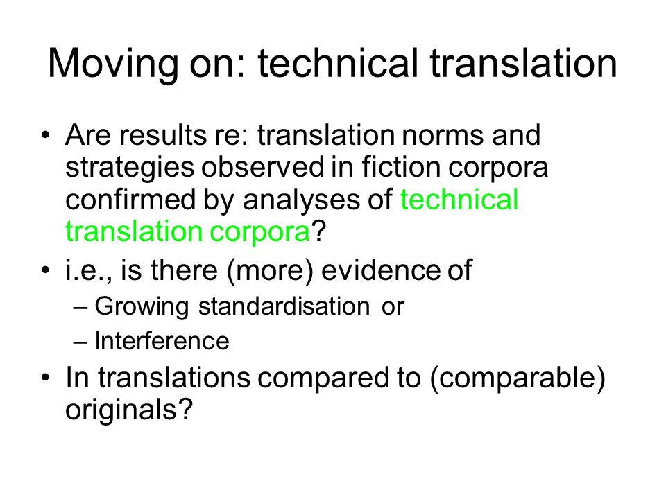 Moving on: technical translation