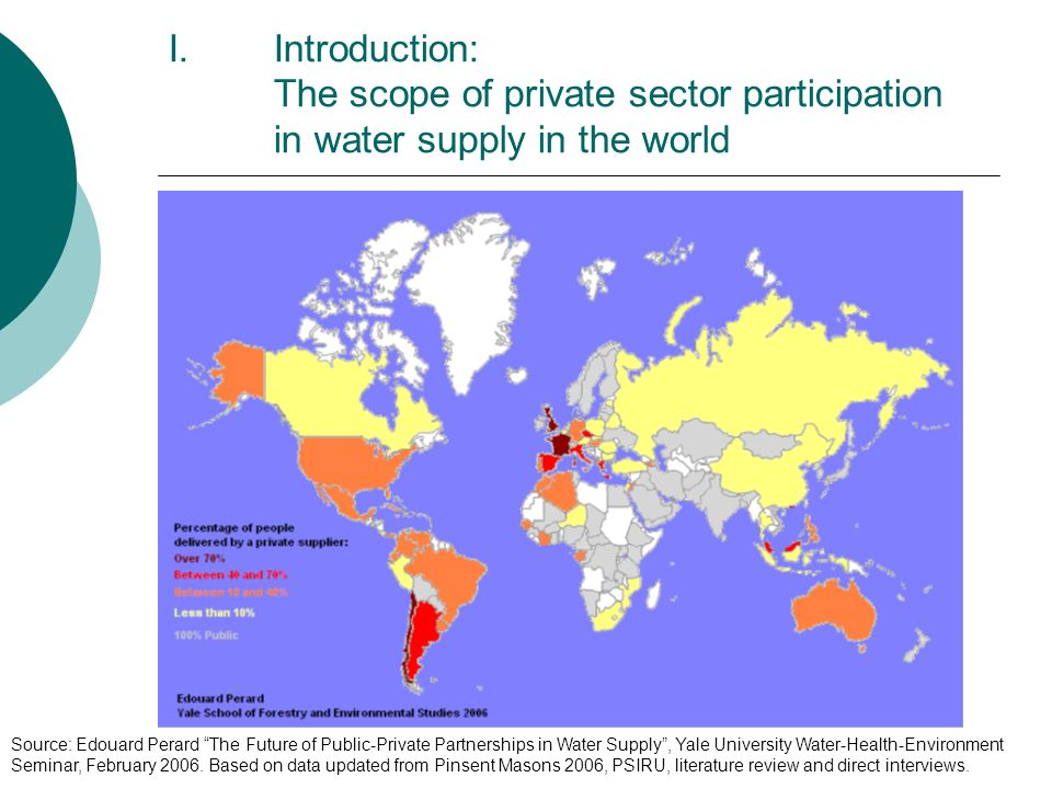 Introduction: The scope of private sector participation in water supply in the world