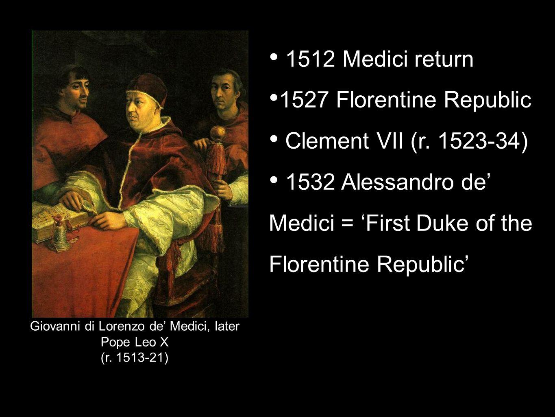 Giovanni di Lorenzo de' Medici, later Pope Leo X