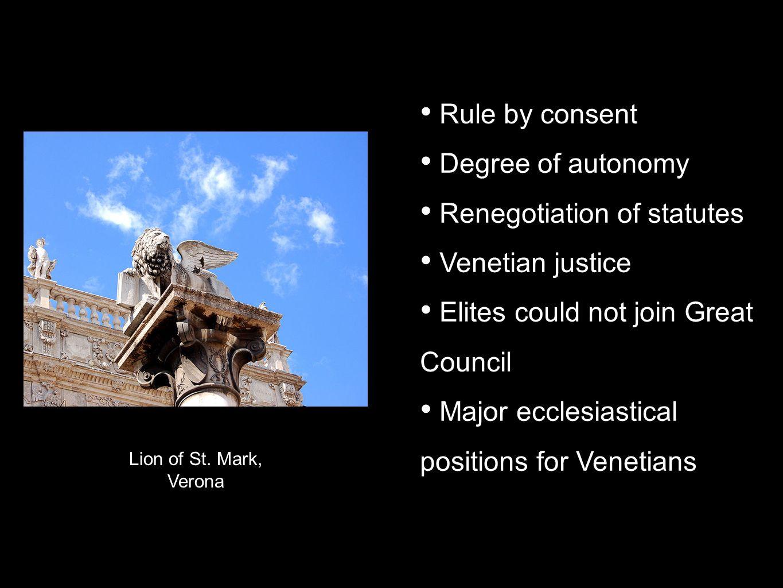 Renegotiation of statutes Venetian justice