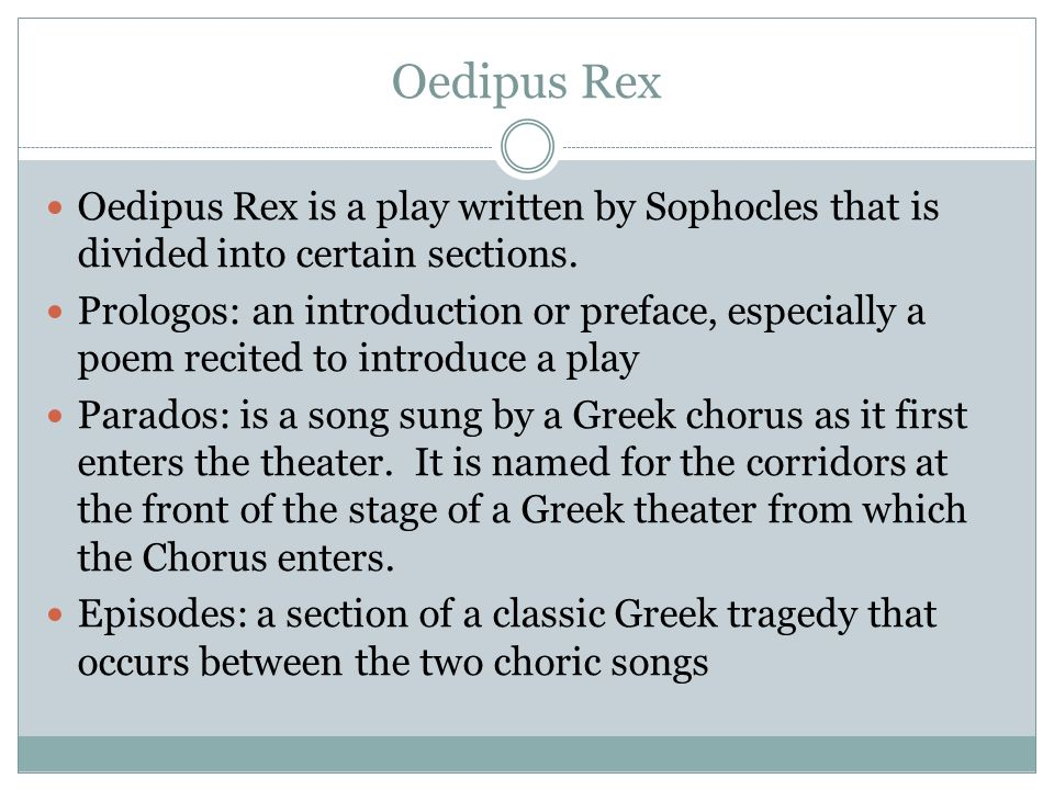 sophocles oedipus rex the definition of greek tragedy And find homework help for other oedipus rex questions at enotes  in the  greek tragedy oedipus rex, how does the character of oedipus fit the typical   are some examples of sophocles' use of dramatic irony in his play oedipus rex.