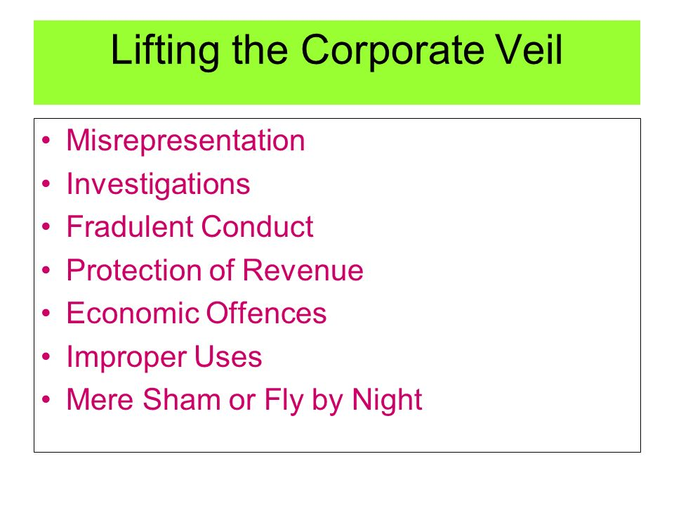lifting the corporate veil essay