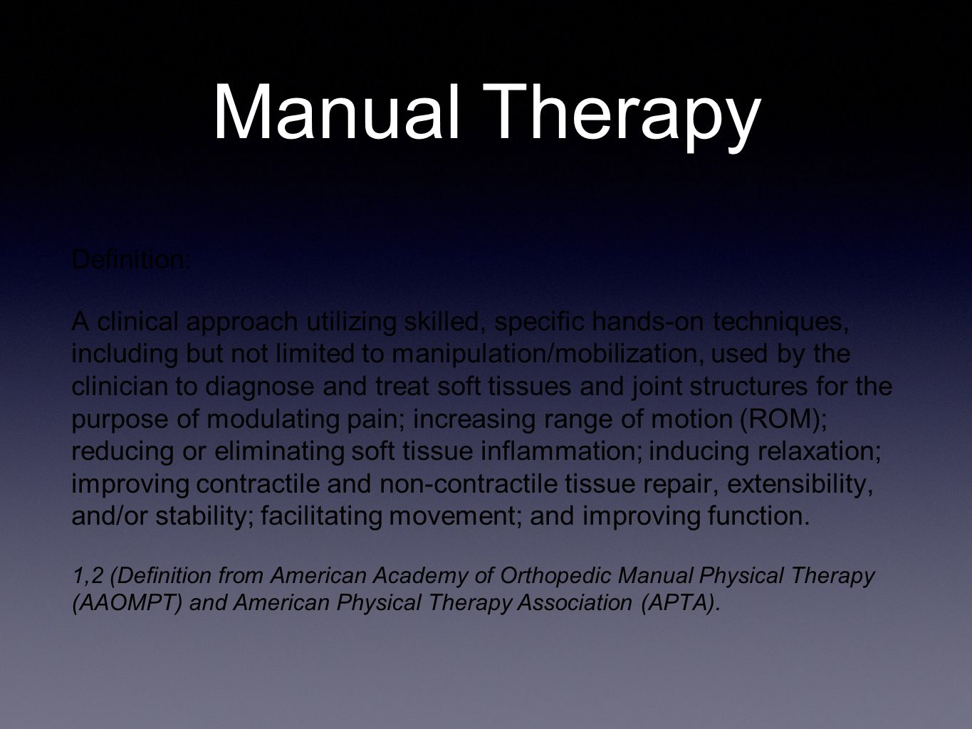 orthopedic manual therapy ppt video online download. Black Bedroom Furniture Sets. Home Design Ideas
