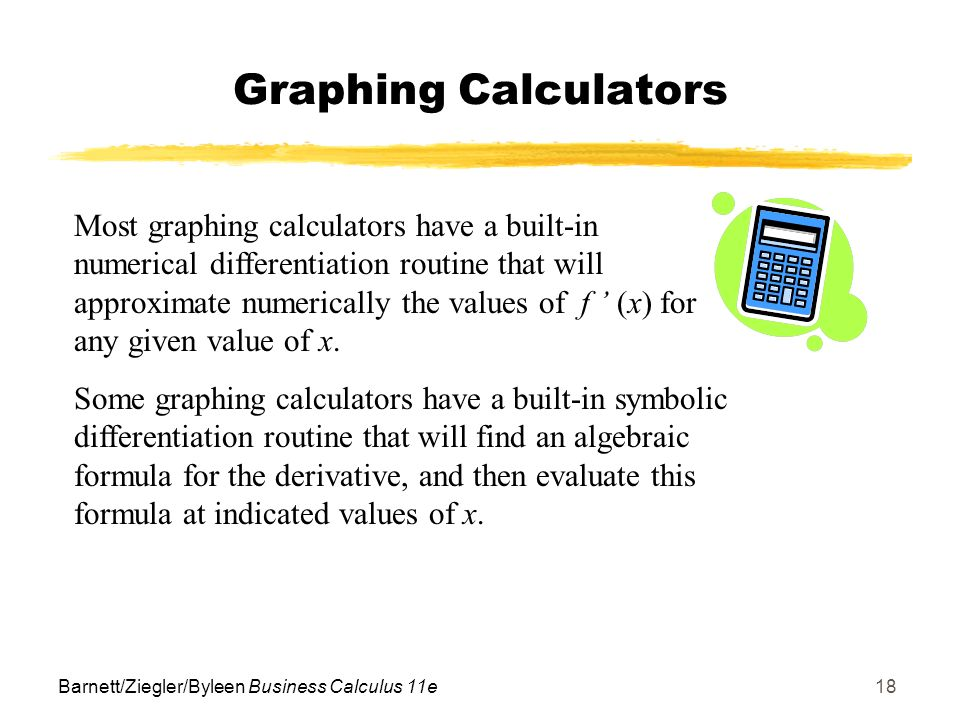 how to find derivative using graphing calculator
