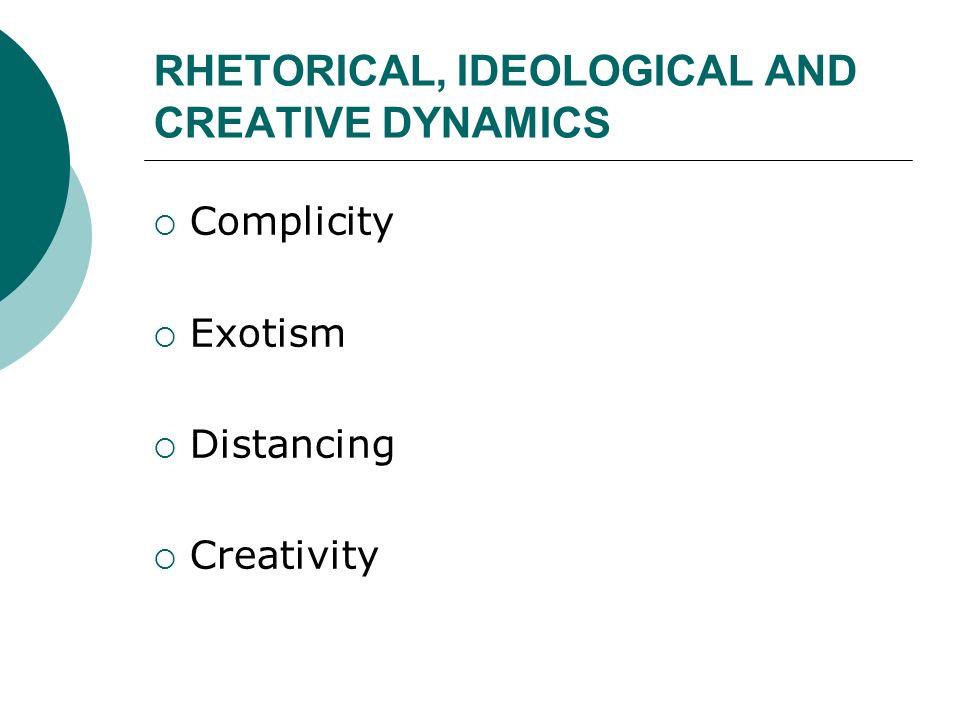 RHETORICAL, IDEOLOGICAL AND CREATIVE DYNAMICS
