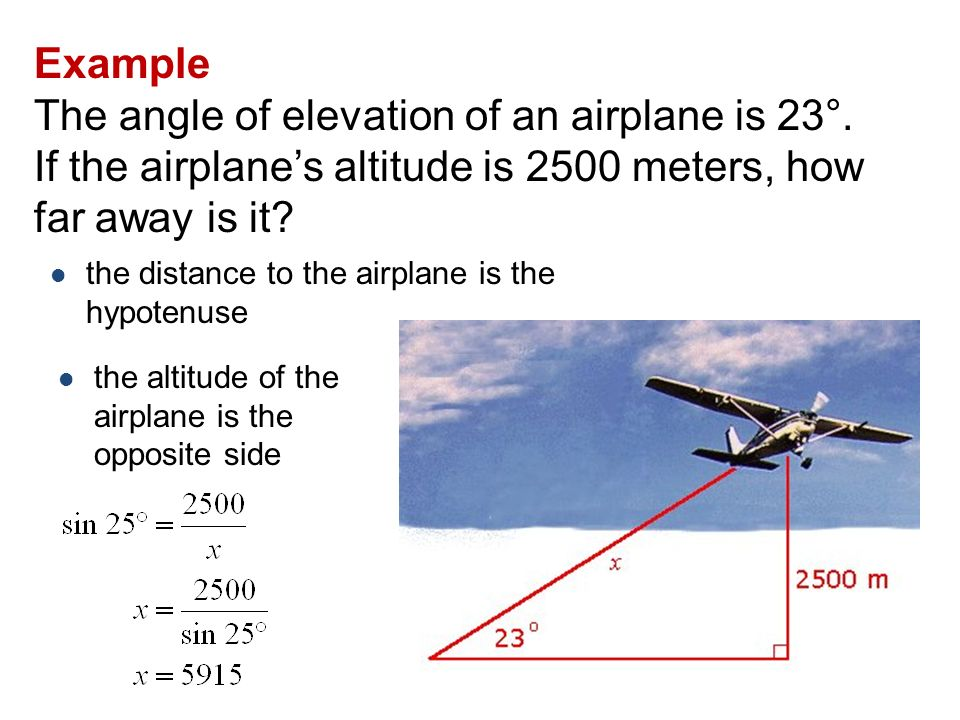 Angles Of Elevation And Depression Ppt Video Online Download - Altitude elevation