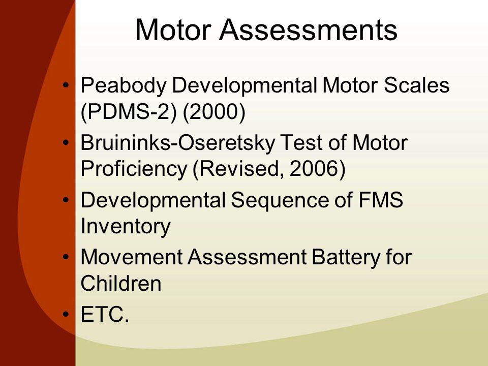 peabody developmental motor scales pdf