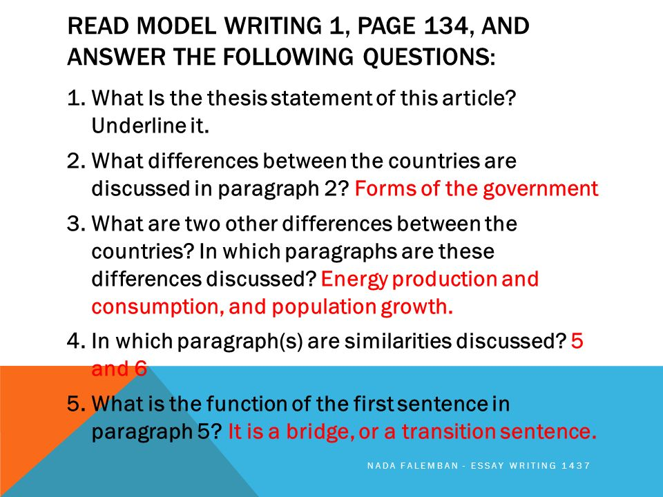 Answer Compare Contrast Essay Questions  Best Traditional Compare And Contrast Essay Topics For Students Example Of An Essay Paper also Thesis Statements For Essays  Essay Tips For High School