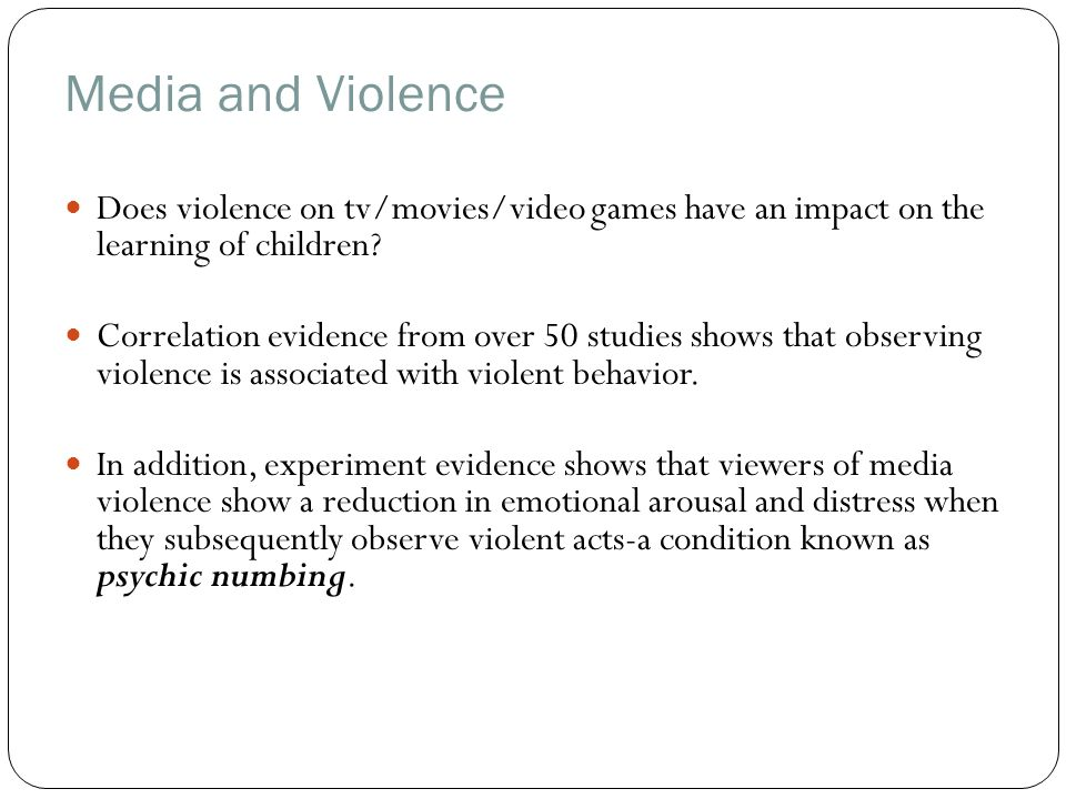 the debate over the influence of television violence on childrens behavior Tv violence and children has become a hot topic -- studies show that extensive viewing of television violence may cause anxiety in children and possibly make children.