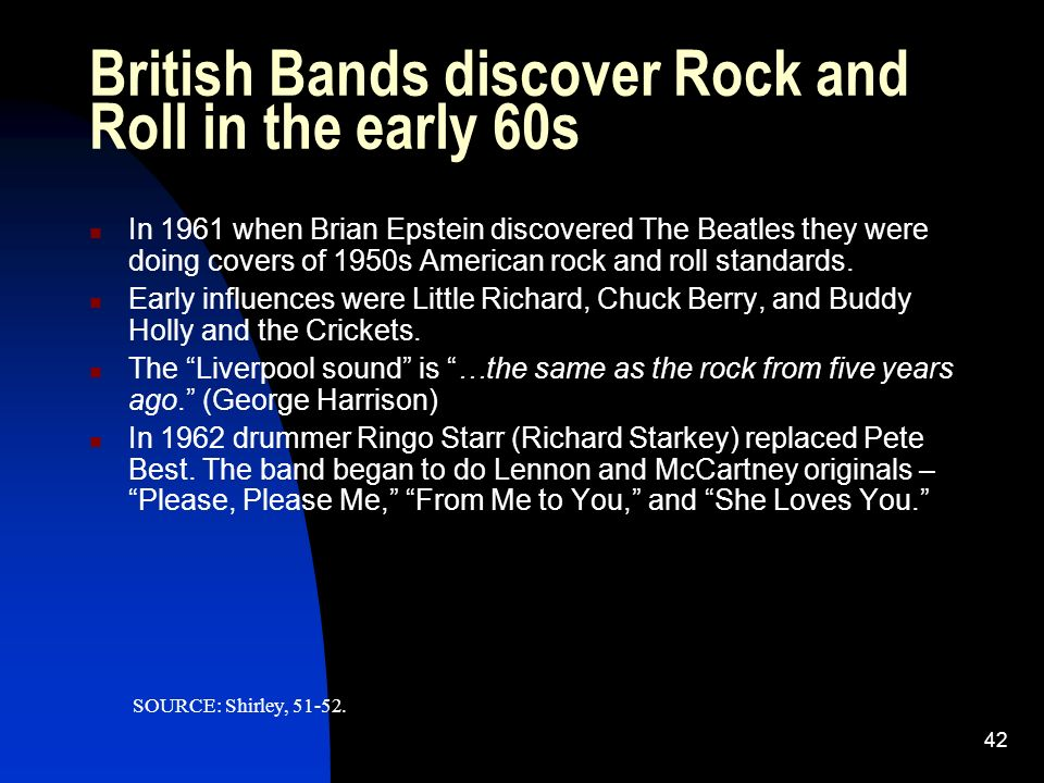 an introduction to the beatles a rock and roll band Beatles move from early pop rock/rock n roll to a much more simple rock famous punk bands: i need help writing my introduction/thesis statement.