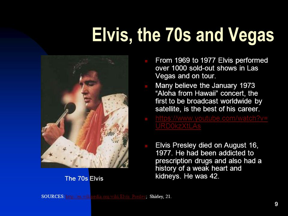 an introduction to the history of elvis presley Introduction, elvis presley and the beatles 3 may 2016 until 1956, when elvis's personal appearances, tv performances, and recordings transformed popular music throughout the united the best-selling band in history, the beatles have sold between 600 million and (at emi estimates) over 1 billion units worldwide.