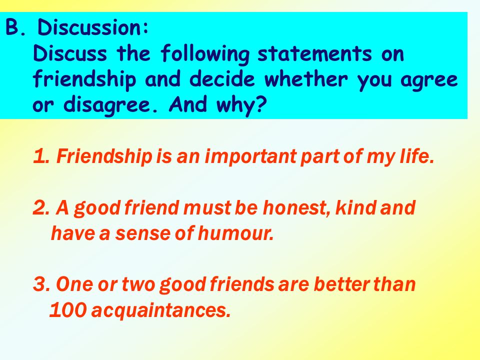 write an essay explaining why honesty is important in a friendship When you are being true to yourself, you are completely honest with what you  feel  introspective practices such as meditation, yoga, and journal writing   believable sentence—and share the results with friends at a healthy.