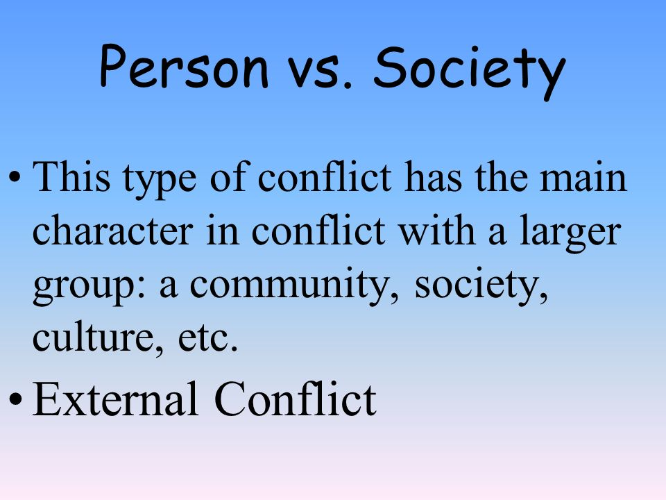 person vs society conflict in 1984 Adventures in storytelling: conflict part 1  of fiction like orwell's 1984,  to stick to dystopian fiction to have a person vs society conflict in your.