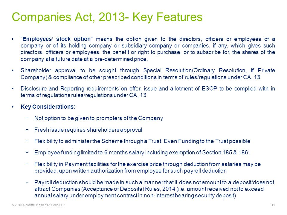 Key features of limited companies