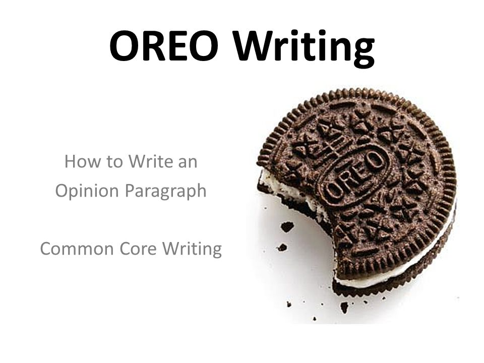 How To Write An Opinion Paragraph Common Core Writing