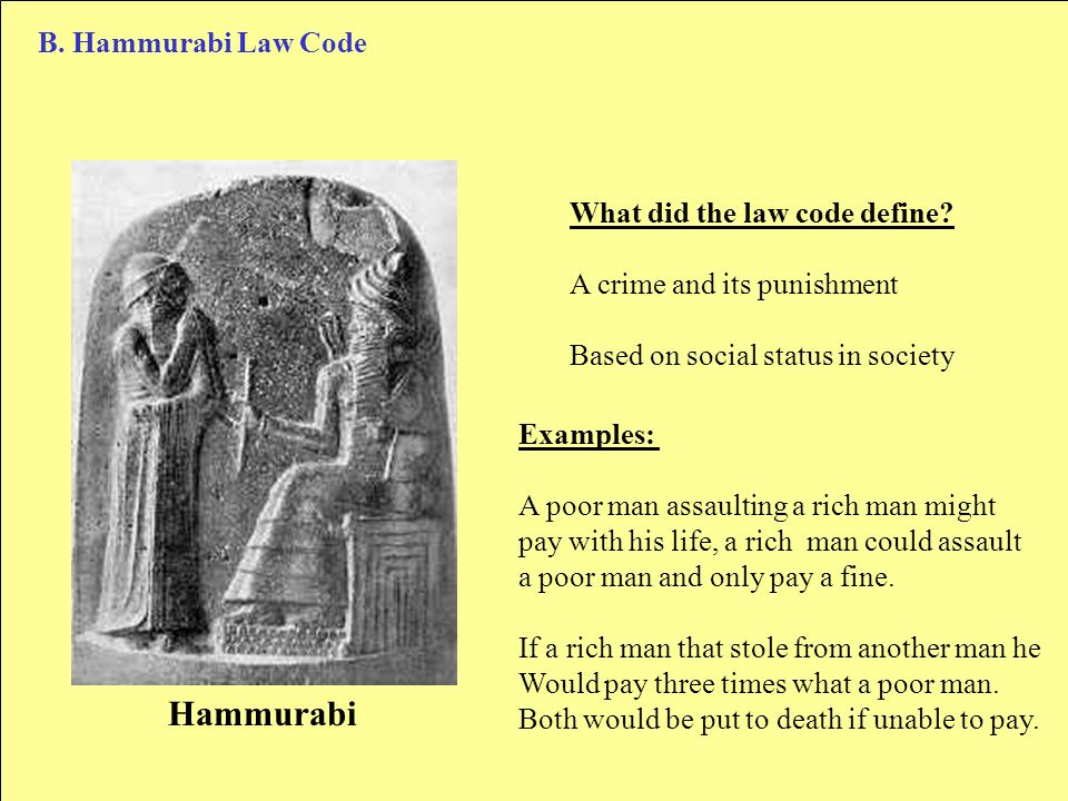 crime and punishment how does hammurabi s Did moses copy the law from the code of hammurabi  similarities to hammurabi's  or with their fist and the victim does not die but.