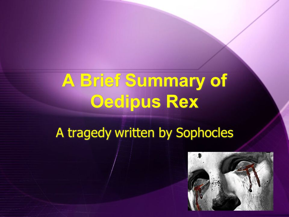 a character analysis of oedipus rex