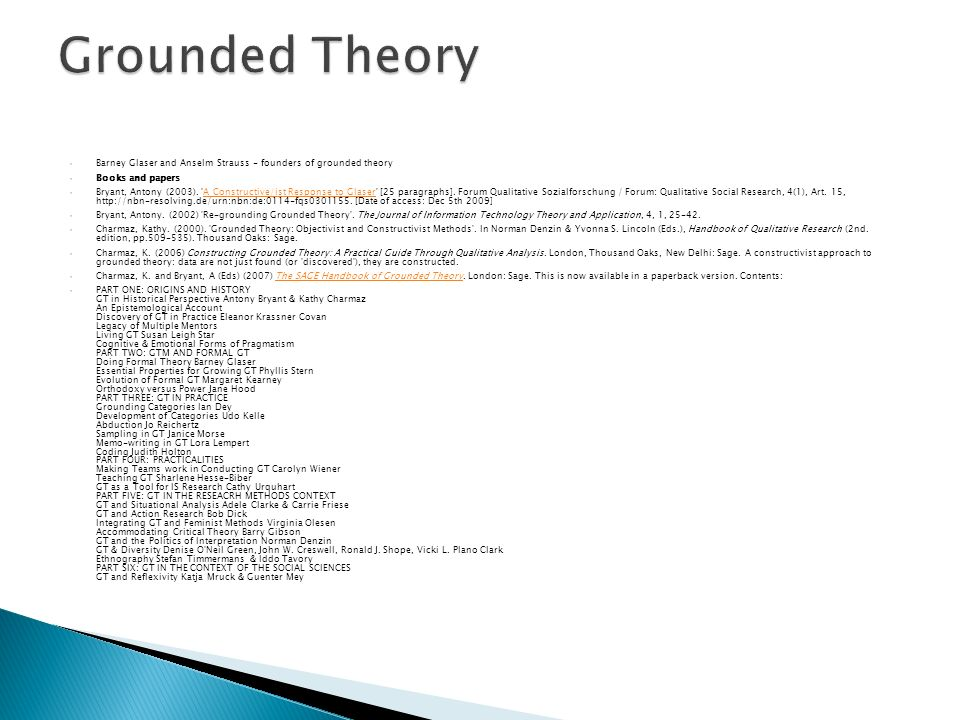 grounded theory essay
