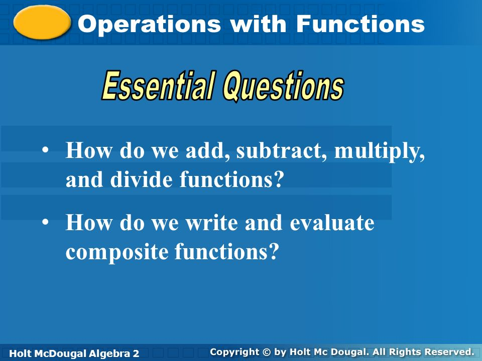 Operations With Functions Ppt Video Online Download