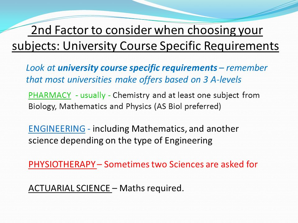 factors to consider when choosing an university Academics are important, but they aren't everything there are plenty of other factors you need to consider in choosing a college, too make sure you consider all aspects, using this list as a helpful guideline.