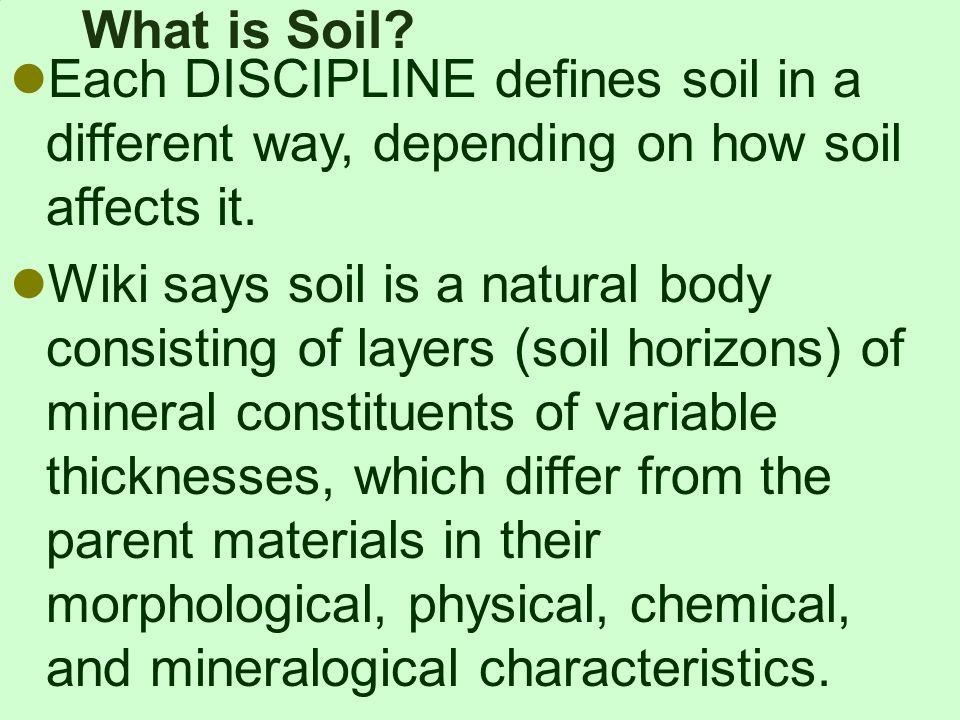 Soil is not dirt ppt video online download for Explain soil