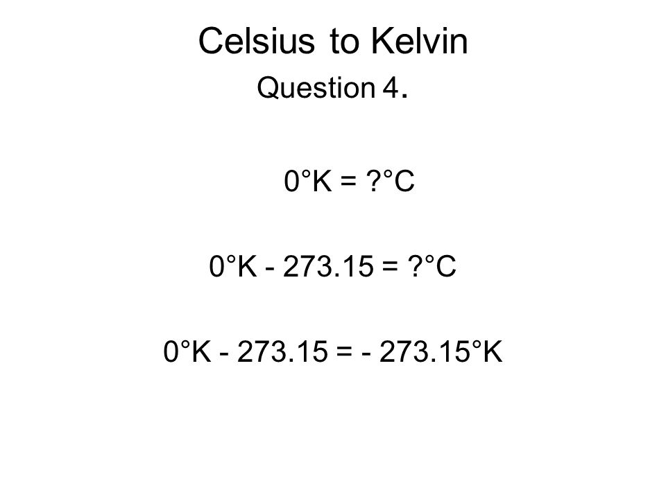 how to solve celsius to kelvin