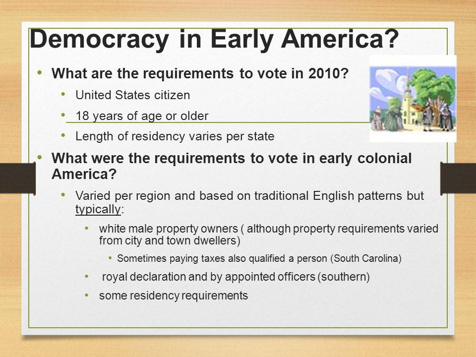 democracy in colonial america