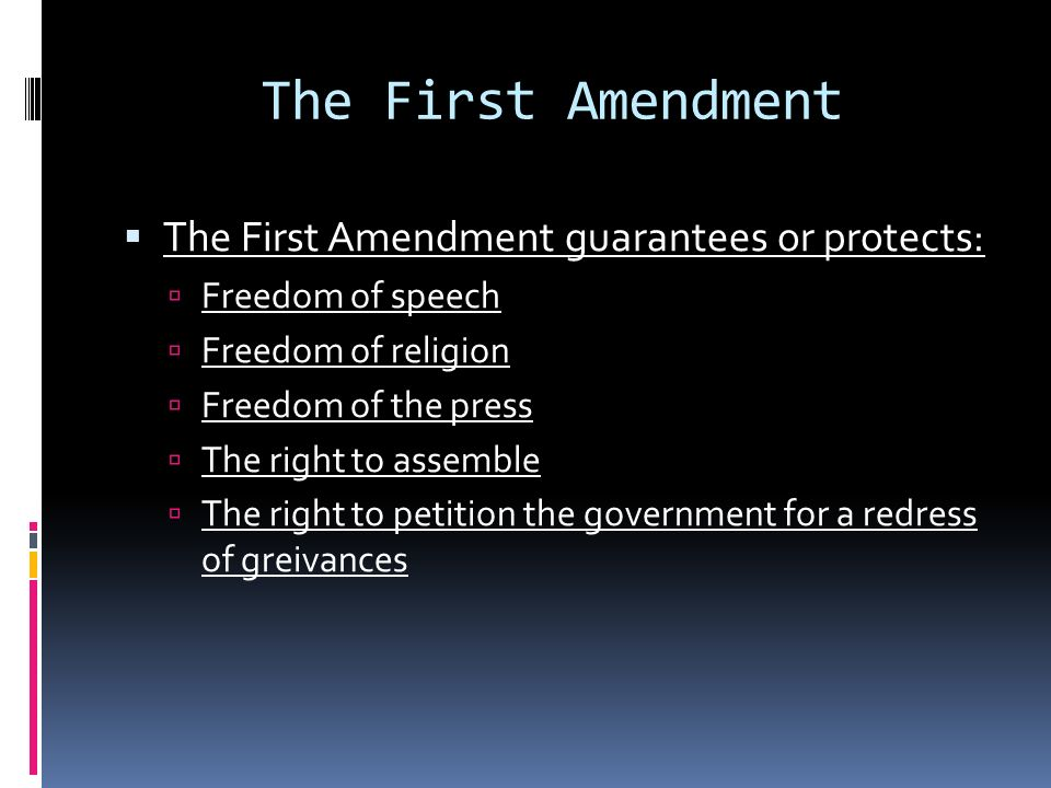 what rights this amendment guarantee or protect essay The 14th amendment also made it illegal for any state to deny a person equal protection under the law additionally, it also states that people have a constitutional right to life, liberty, and property that cannot be denied by the government it also states that people have the right to due process this means that a person's legal rights must be.