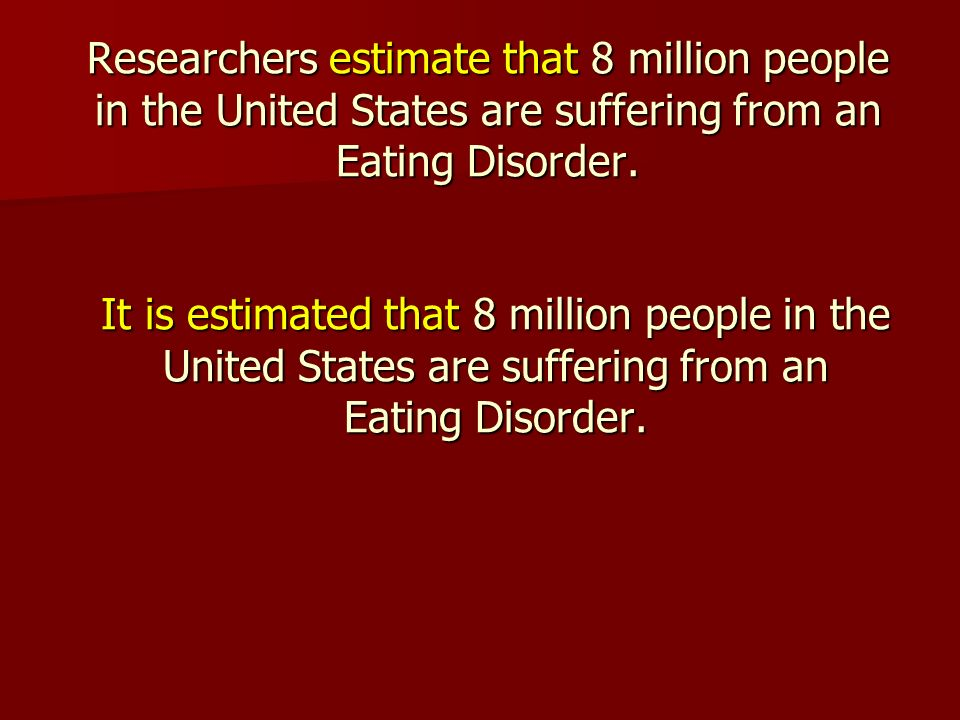 the characteristics of eating disorders in the united states The characteristics of anorexia nervosa and bulimia nervosa were united kingdom open athens dancers are at risk for the development of eating disorders.