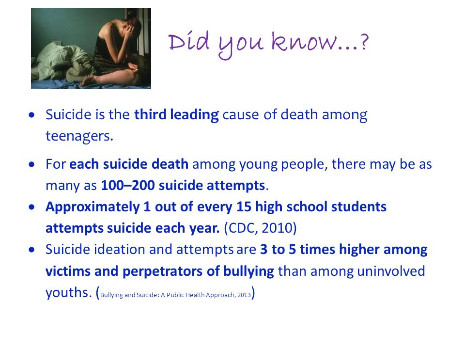suicide among young people Suicide is the leading cause of death among young people aged 20-34 years in the uk and it is considerably higher in men, with around three times as many men dying as a result of suicide compared to women2 it is the leading cause of death for men under 50 in the uk.