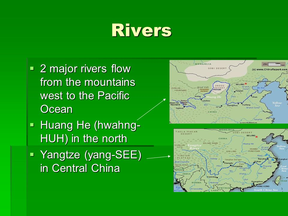 River Dynasties In China Ppt Download - 2 major rivers