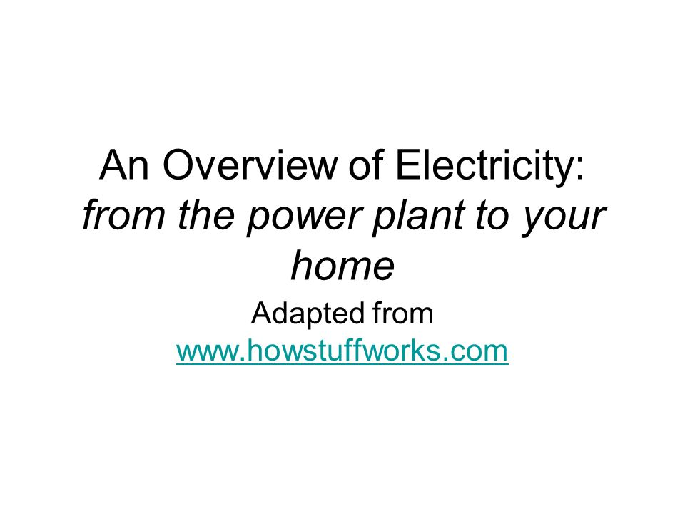 an overview of electricity