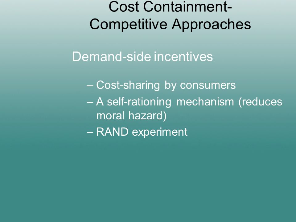 access quality and cost containment essay Health care competition, strategic mission, and patient satisfaction: research model and propositions  the impact of competition on quality, cost, and patient .