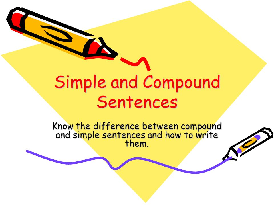 how to write a simple sentence