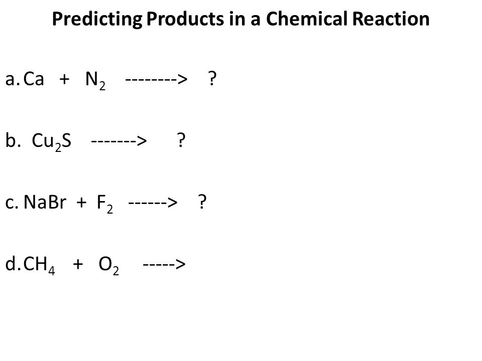Chemical Reactions ppt download – Predicting Products of Chemical Reactions Worksheet
