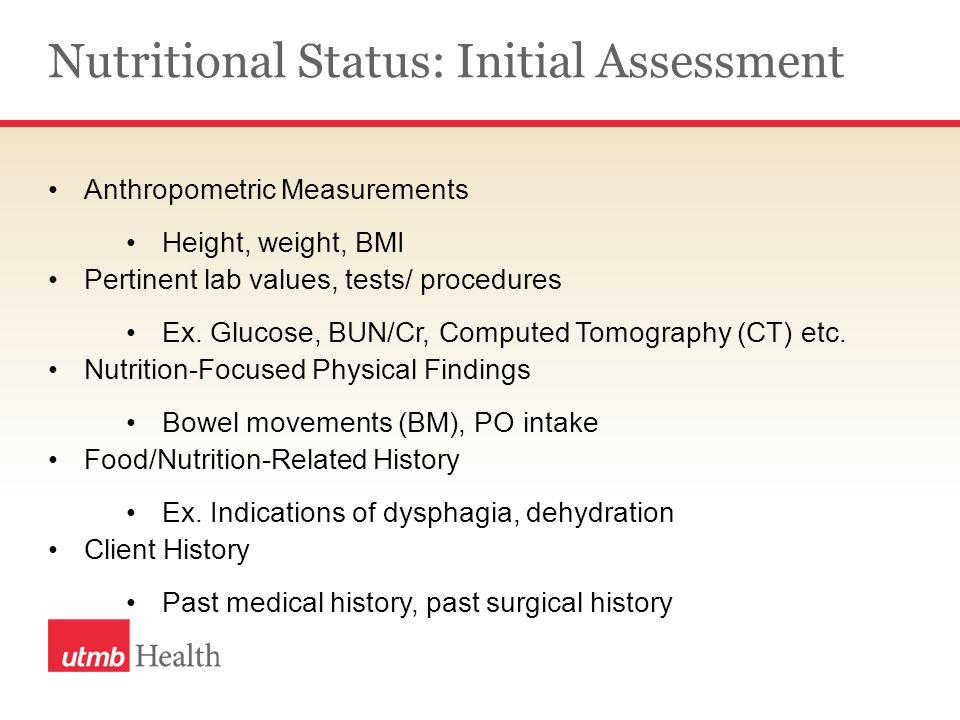 nutritional status assessment methods pdf