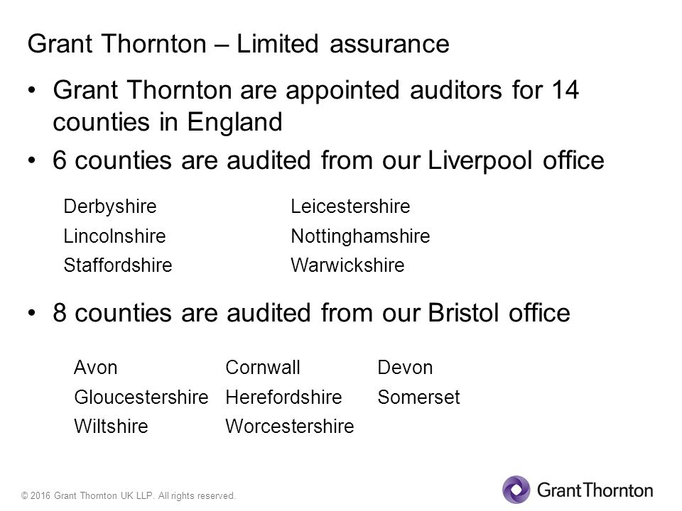 Grant Thornton – Limited assurance