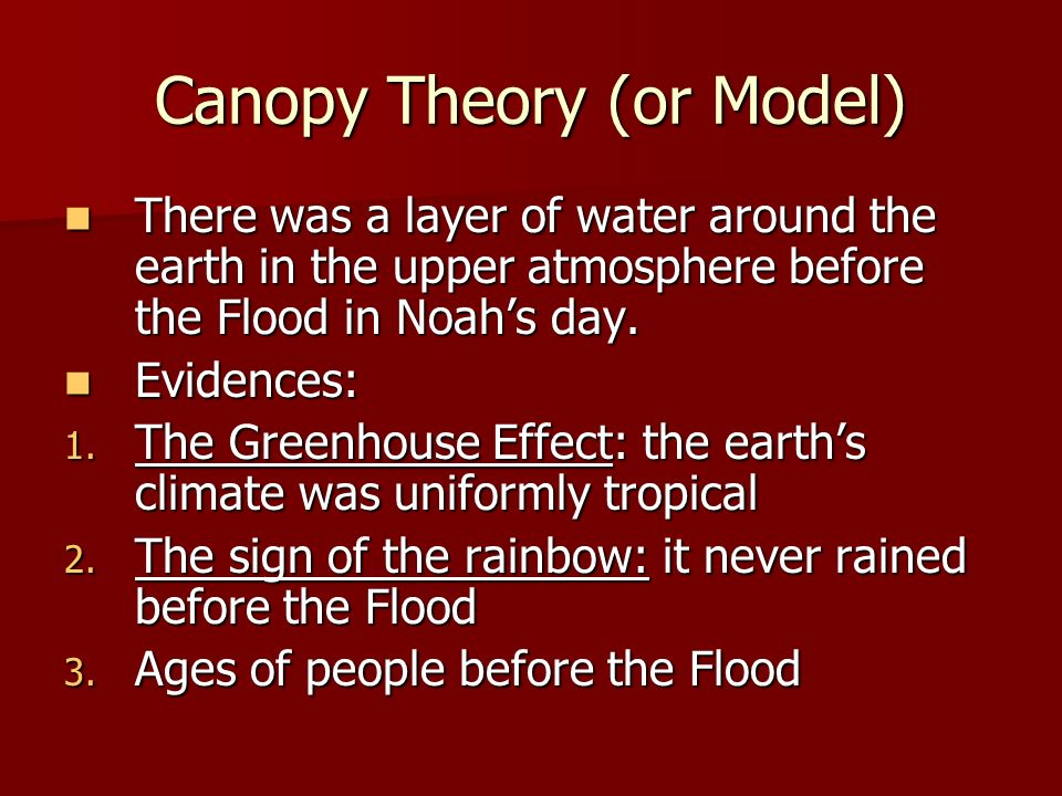 Canopy Theory (or Model)