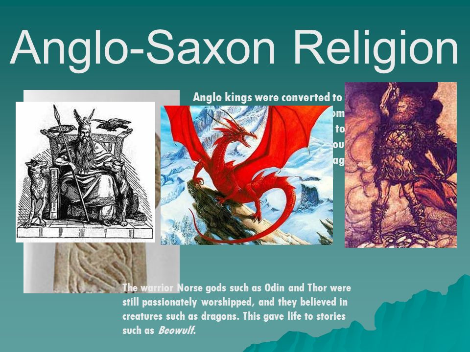 an analysis of the religion in beowulf an anglo saxon epic The oldest surviving epic poem in the english language, beowulf is also the earliest surviving religion & spirituality old english, also known as anglo-saxon.