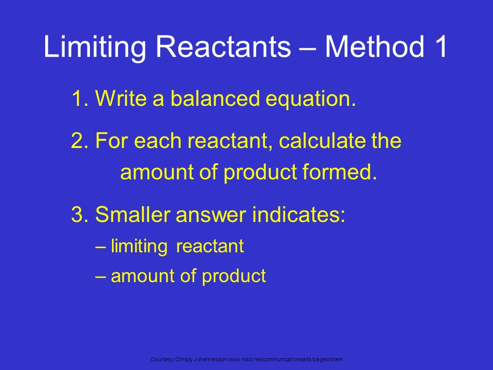limiting reactant essay Lesson 8 limiting reactant is the reactant that will be completely used up in a from chm 130ll at rio salado community college  lesson 7&8 essay answer.