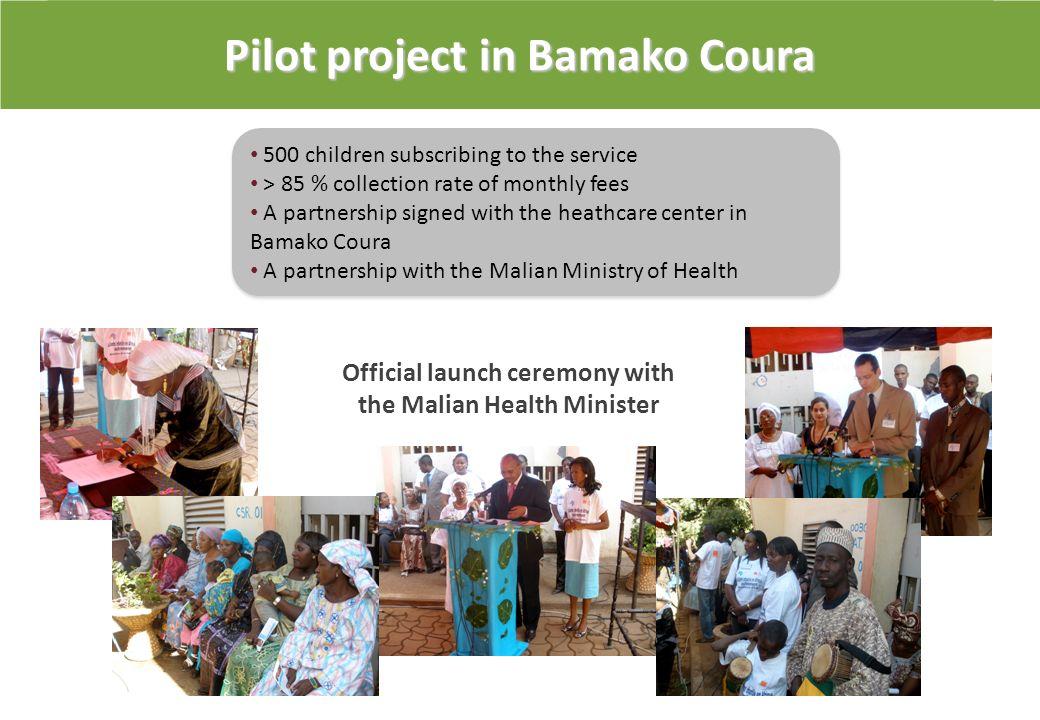Projet pilote à Bamako Coura